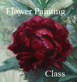 Flower painting class Victoria BC